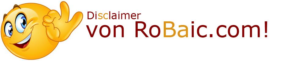 Disclaimer von RoBaic Roger Balmer Internet Consulting